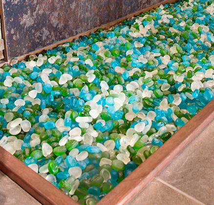 Sea Glass Pebble Coverall Stone